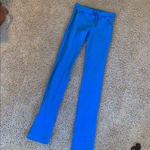 Women's blue Lululemon leggings